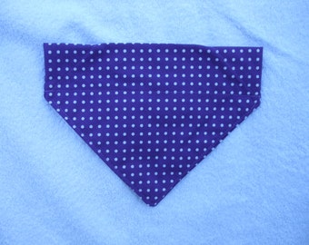Purple Polka Dot Slide on Bandana
