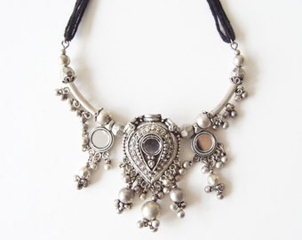Indian Mirror Work Necklace