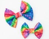 MEDIUM Tie Dye Bow