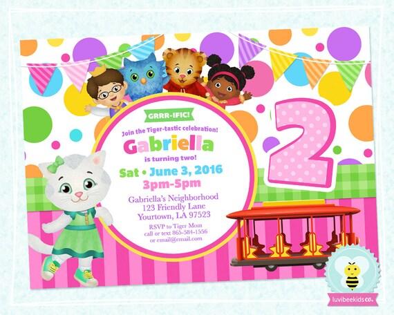 Daniel Tiger Birthday Invitations On Sale Invitation