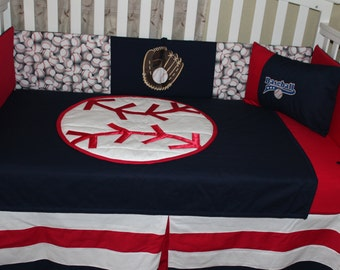 Baseball Crib Bedding Etsy