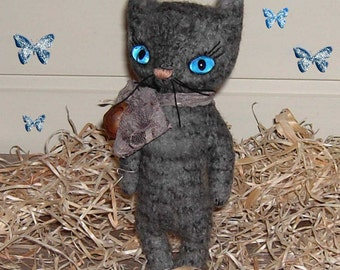 OOAK Artist Bear-Sweet mini vintage style teddy cat bear Unikat ca.21cm