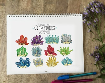 Birthstones calendar 2017, quartz calendar 2017, crystal calendar 2017, gemstones calendar 2017, rocks calendar 2017, gemstones and crystals
