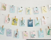 Animal Flash Cards, ABC Cards, Flash Cards, 5x7in Prints, Animal Garland