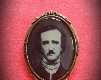 Edgar Allan Poe Brooch Pin