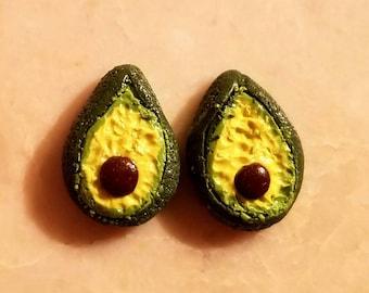 Avocado Stainless Steel Stud Earrings