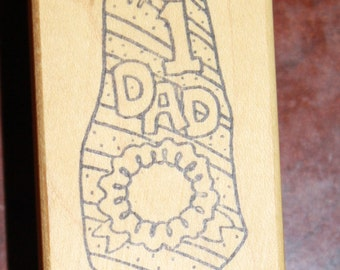 No. 1 Dad Tie Rubber Stamp - Father's day - Dad - Scrapbooking - Cardmaking - journaling - rubber stamp -scrapbook stamp