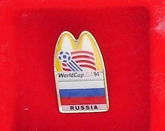 World Cup 1994 McDonalds Enamel Pin Russia Flag