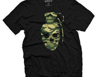 Fifty5 Camo Skull Grenade Men's T Shirt