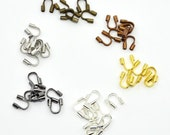 Brass Wire Guardian Wire Protector, Mixed Color, 5x4x1mm, Hole: 0.5mm; about 540pcs/box * Bead Box Set Kit 033