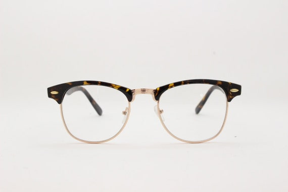 Clear lens clubmaster vintage style by YouaretheBrandLondon