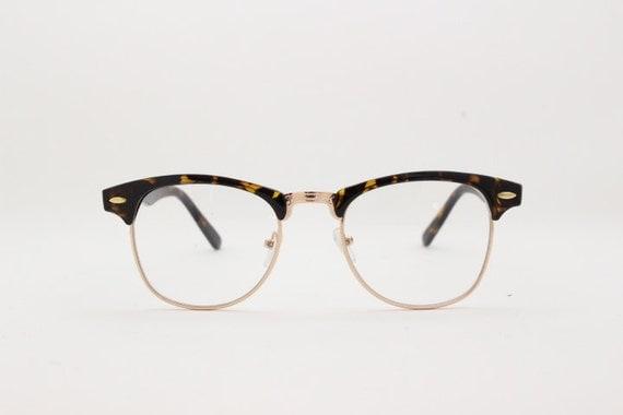 Half Frame Glasses Americas Best : Clear lens clubmaster vintage style by YouaretheBrandLondon