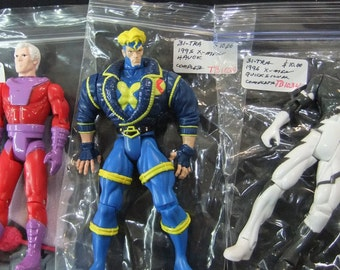 Vintage X-Men Action Figures (3) 1990's X-Men Havok - X-Men Magneto - X-Men Quick Silver