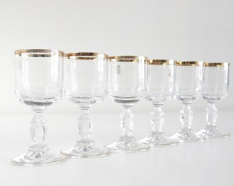 Gold Rimmed Cordial Glasses. Rare Spiegelau Crystal Sherry Glasses Made In West Germany. Shot Glasses. Licury Glassware. Home Barware