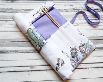 The Twits knitting needle case, Roald Dahl knitting needle roll, Roald Dahl crotchet hook case, The Twits knitting needle roll,