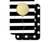Stripes & Dot Scratch-Off Balloon