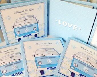 20 x VW Camper Van Wedding Invitations, Volkswagen CamperVan Invites, Car Invitations (larger quantities available)