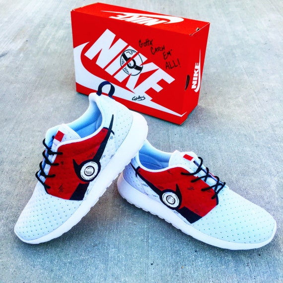 879d4daccb62 80%OFF Pokemon Go Hand painted NIKE roshe by ArtOfTheSole on Etsy ...