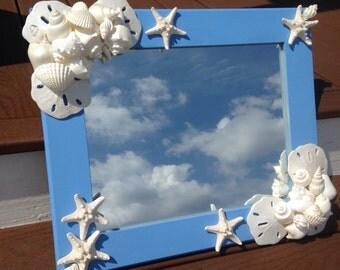 Beach Decor - Nautical Shell Mirror (LM011)