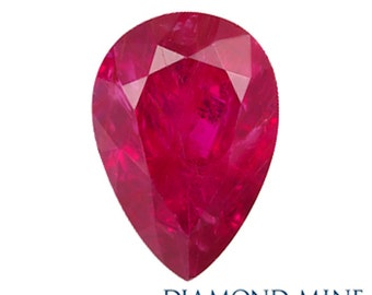 A Beautiful NaturalSapphire 1.5 Red Pear Shape A
