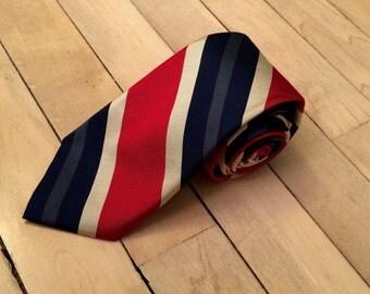 Vintage Lands' End prep striped tie