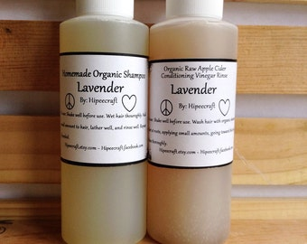 Travel Size Organic Shampoo and Conditioner Homemade Shampoo and Conditioner Natural Shampoo and Conditioner with Vinegar Rinse