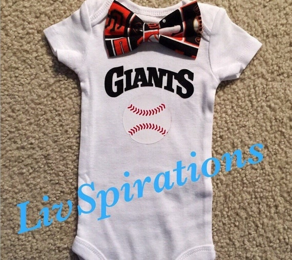San Francisco Giants Baby Game day esie Bow by LivSpirations