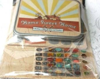 Home Sweet Home Accordian Book Kit, Home Scrapbooking Kit, K & Co. Scrapbook Kit, DIY Scrapbooking Home Improvement, NIP, Autumns Color