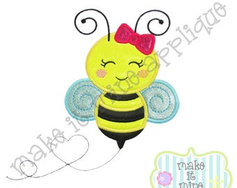 Applique Embroidery Girl Bee Machine Applique Design