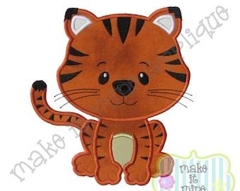 Applique Zoo Tiger Leopard Wildcat Cheetah Elephant Machine Applique Design