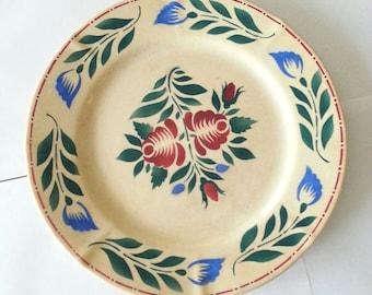 Boch Fes La Louviere Flower Plate