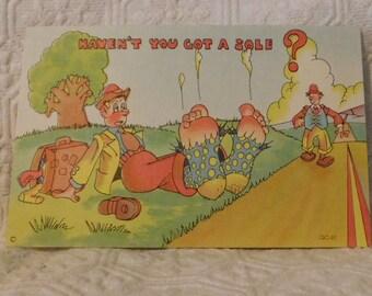 Vintage Haven't You Got a Sole? Comic Postcard
