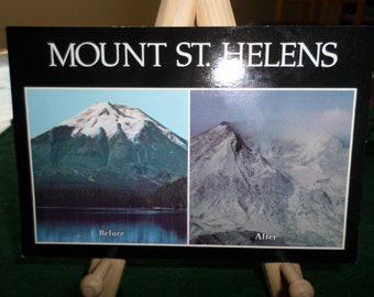 Mt. Saint Helens and Spirit Lake Before and After