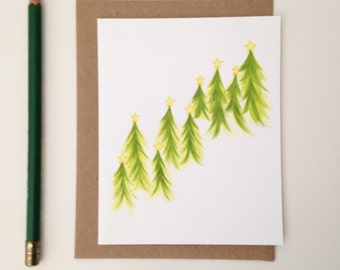 Christmas Card // Celebration Forest // Winter Forest Card // Winter Card