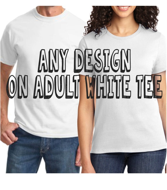 FRONT and BACK   Print ADULT Size -