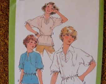 51% OFF Misses' Kimono Sleeve Blouse 1970's Vintage Uncut Simplicity Sewing Pattern 8340 Size 14 16