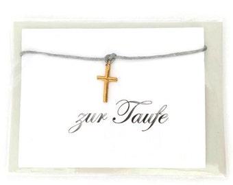 "Bracelet ""to be baptized""card envelope gift"