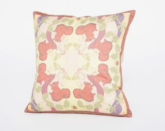 Red Squirell Cotton Cushion