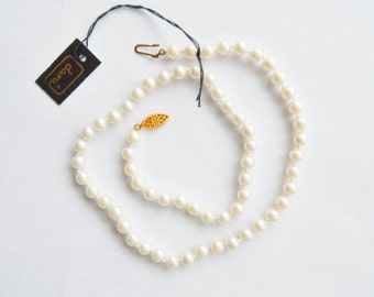 """18"""" Dani Pearl Necklace - Knotted - Original Tag"""