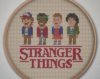 Stranger Things Cross Stitch Pattern - Instant Download PDF