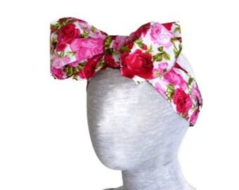 Big bow headband - baby headband - girls headband - infant headband - hair accessories - top knot headband - baby headwrap - baby bow