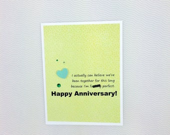 I'm Fu**ing Perfect Anniversary card