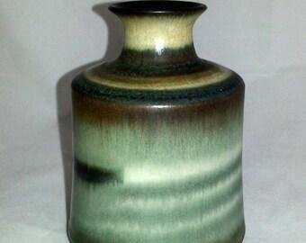 Scandinavia Stoneware vase in lovely glaze and form by Höganäs Sweden.
