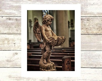 New Orleans Art HOLY WATER  St. Louis Cathedral  Fine Art Photograph  Limited Edition of 250 Religious Photography Louisiana Art Angels