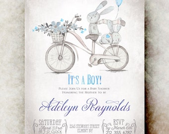 Butterfly baby shower invitation girl printable baby shower bicycle baby boy shower invitation boy baby shower blue baby shower printable baby filmwisefo