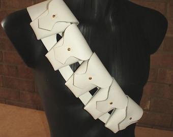 White Leather Bandolier