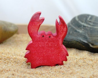 Crab Wooden Toy - Natural Eco Friendly Waldorf Wood Kids Toy