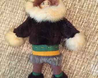 Vintage Handmade Alaskan Inuit Doll/Collectible Doll/Folk Art Doll