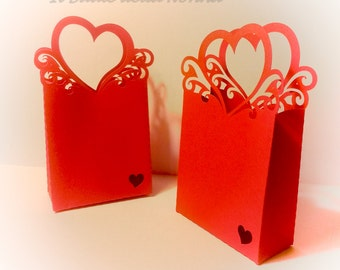/Scatolina Valentine gift box wedding favor theme heart (article 69)