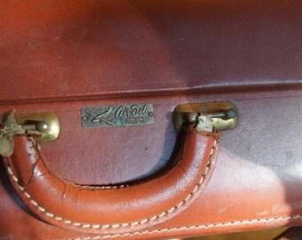 "Vintage ""Air Deb"" MAde in Phila Leatehr Suitcase"